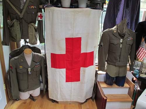 military or civilian red cross flag?