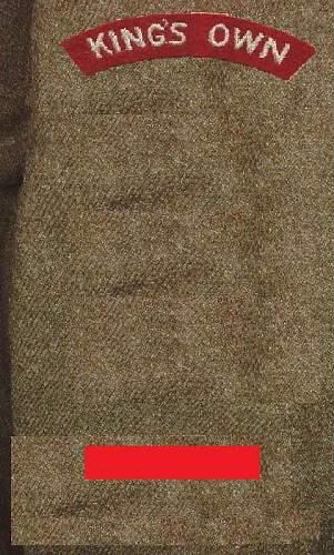 Click image for larger version.  Name:KING'S OWN REGIMENT WW2 BATTLEDRESS SLEEVE DETAIL.jpg Views:56 Size:108.9 KB ID:574517