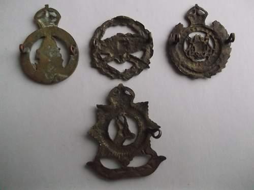 A few new cap badges