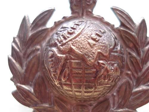 RM WW1 Collar Badge