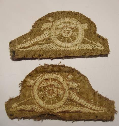Royal artillery patch