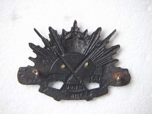 Click image for larger version.  Name:46th Battalion The Brighton Rifles Hat Badge 1 2.jpg Views:78 Size:191.6 KB ID:588237