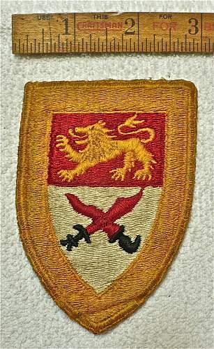 British (?) Patch; Lion & Crossed Kris & Scimitar