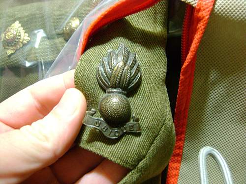 RE flaming bomb insignia!