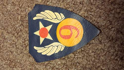 9th AAF Leather patch