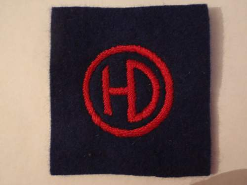 51st. highland division patch