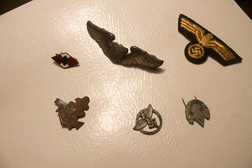 Various WWII medals - American, German and Japanese