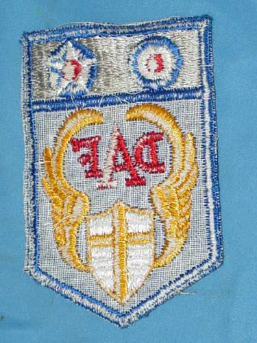 Desert Air Force patch, unusual construction, foreign?