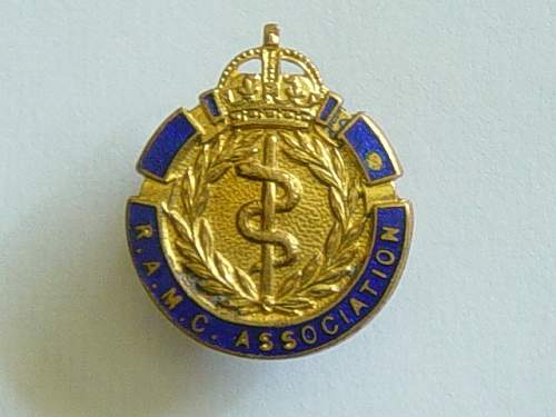 Click image for larger version.  Name:Roayl Army Medical Corps Association membership badge..jpg Views:375 Size:148.0 KB ID:61970