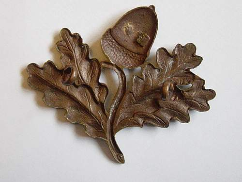 South Notts Hussars Officers bronze cap badge