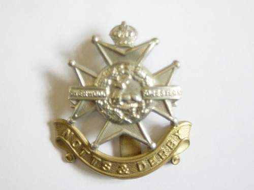 Click image for larger version.  Name:Sherwood Foresters cap badge..jpg Views:376 Size:140.0 KB ID:61978