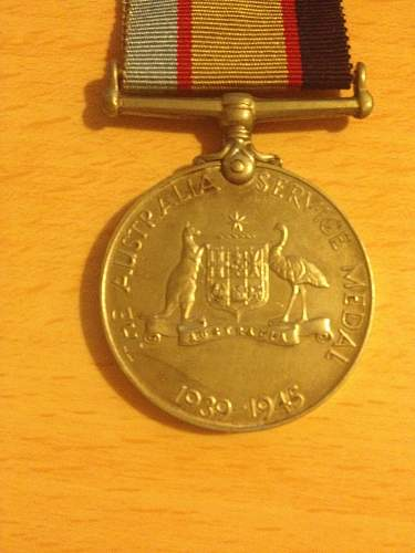 Click image for larger version.  Name:Australlia Service medal front.jpg Views:25 Size:321.1 KB ID:623098