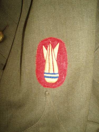 World War Two RE Bomb Disposal Patches real & fake