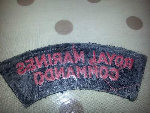 Royal Marine insignia post war??