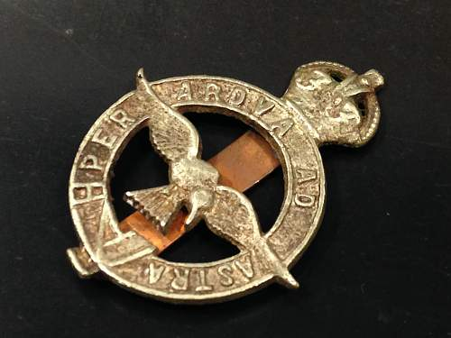 this weeks pick up's an old RAF badge  and  Corps of Royal Engineers pouch badge 1800's ?