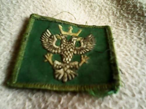 Polish or Prussian insignia