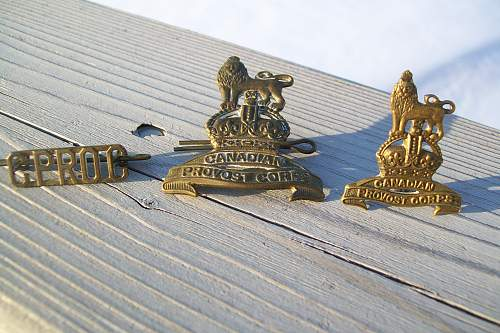 Canadian Provost corp badges