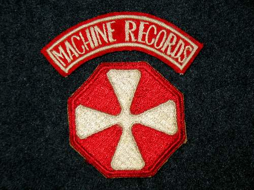 "US Army ""Machine Records"" Patch Tab"