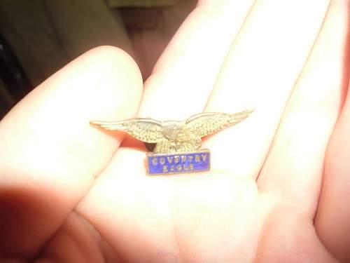 RAF RFC  lapel badge (Coventry eagle) ???