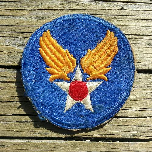 Blue backed A.A.C. patch