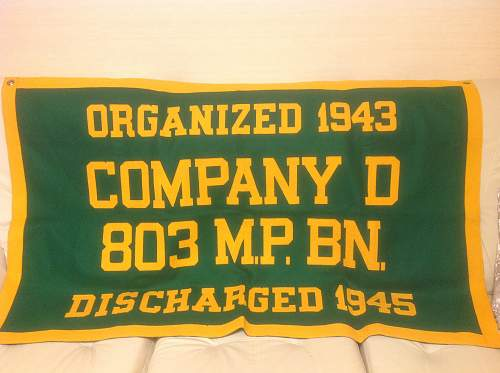 Felt Banner: 803 M.P. BN