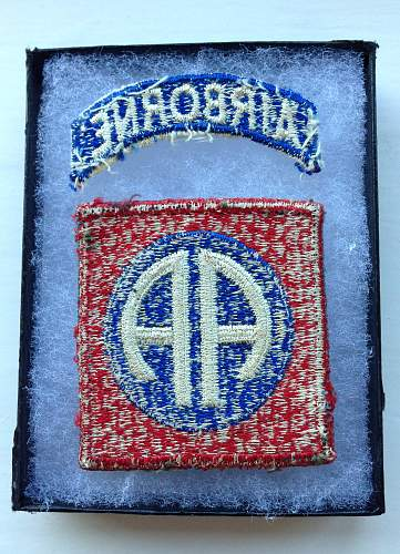 82nd Airborne patch advice