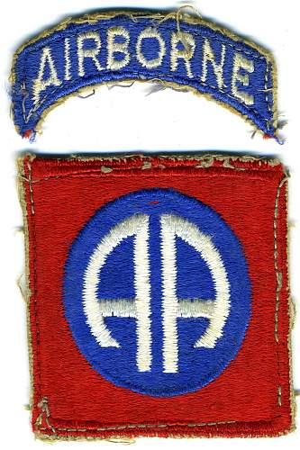 82nd Airborne patch advice