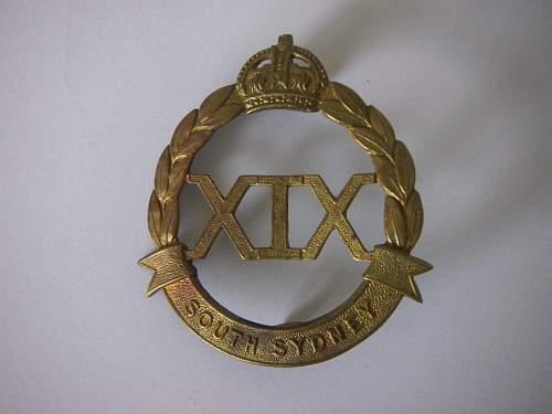 Click image for larger version.  Name:19th Battalion The South Sydney Regiment Hat Badge 1 1.jpg Views:98 Size:192.3 KB ID:705100