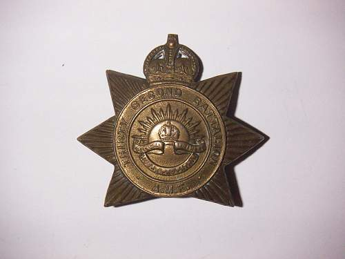Click image for larger version.  Name:32nd Battalion The Footscray Regiment Hat Badge 1 2.jpg Views:114 Size:186.0 KB ID:705101
