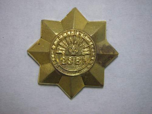 Click image for larger version.  Name:23rd Battalion The City of Geelong Regiment collar badge 1.jpg Views:84 Size:193.3 KB ID:705104