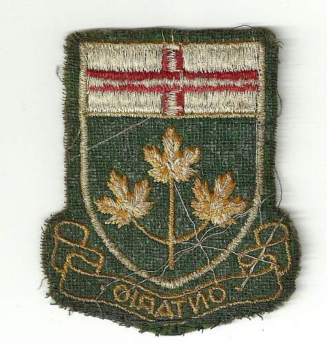 Ww2 patches ?? 77th div gold patch, 33rd, & ontario