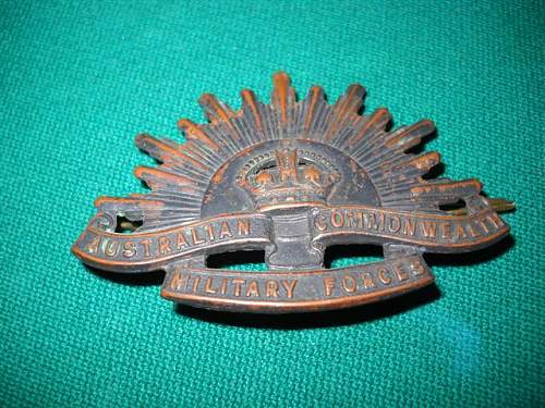 Australian Rising Sun hat badge
