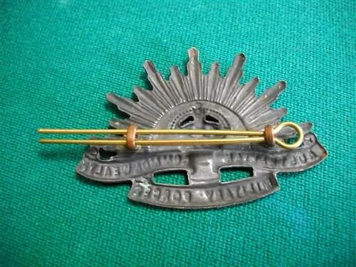 Australian Rising Sun hat badge