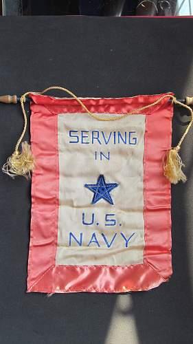 Navy Son in Service window banner