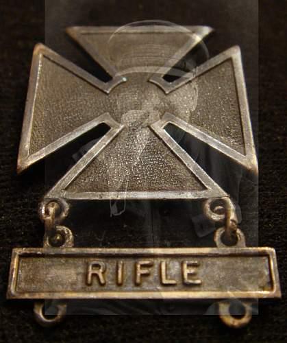 U.S Marksman badge