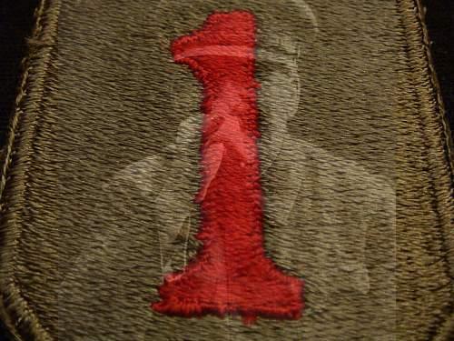 U.S 1st Infantry Division patch nd U.V
