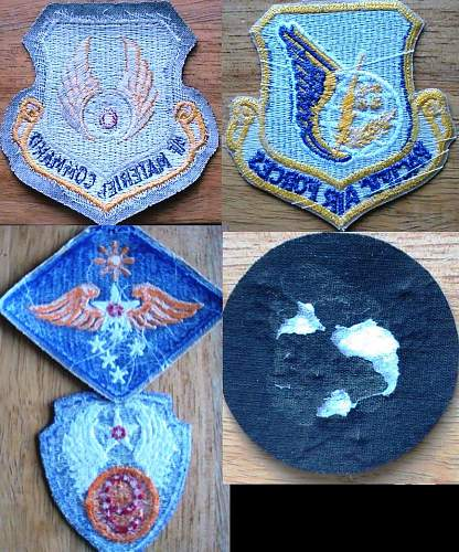 My US air force patch collection