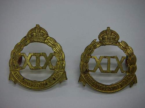 Click image for larger version.  Name:19th Battalion The South Sydney Regiment collars 1.jpg Views:88 Size:235.8 KB ID:737959