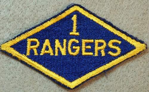 Ranger Diamond with a '1'