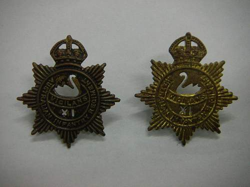 Click image for larger version.  Name:11th Battalion The City of Perth Regiment collar set 1.jpg Views:17 Size:213.9 KB ID:742398