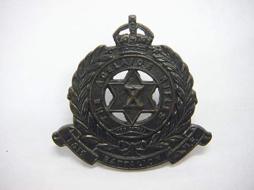 Click image for larger version.  Name:10th Battalion The Adelaide Rifles Collar 1.jpg Views:10 Size:159.7 KB ID:742400