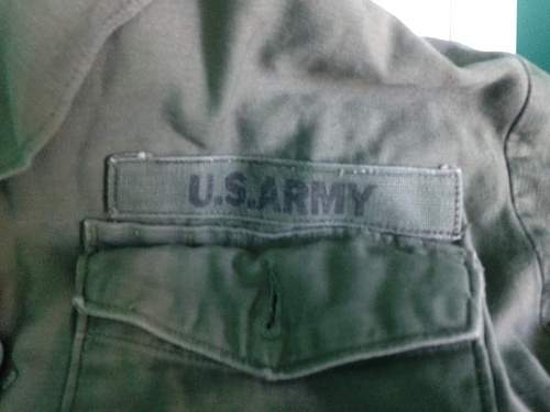 Army shirt and Patch ID