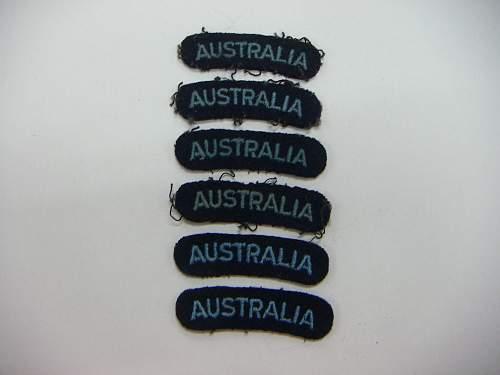 Click image for larger version.  Name:WW2 RAAF shoulder titles 1.jpg Views:84 Size:154.6 KB ID:749705