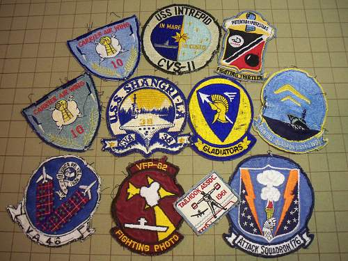 Early Vietnam USN Squadron Patch Grouping