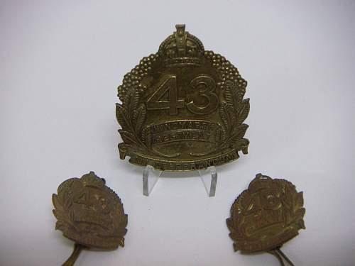 Click image for larger version.  Name:43rd Battalion The  Hindmarsh Regiment Set 1.jpg Views:35 Size:156.3 KB ID:756154