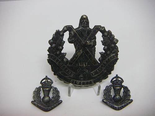 Click image for larger version.  Name:61st Battalion The Queensland Cameron Highlanders Regiment Set 1 (2).jpg Views:115 Size:184.0 KB ID:756159