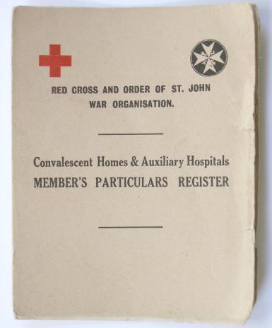 VAD (RED CROSS) armband,badges and document.