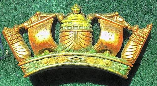 Plastic Merchant Navy Badge