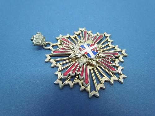 Enamel Crown & Shield Pin/Badge