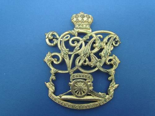 Canadian Artillery Pin Identification please